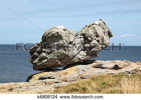 Stock Photo of Rock Ile de Sein k6808124.