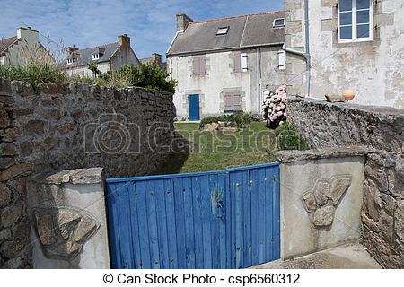 Stock Photo of Village Ile de Sein.