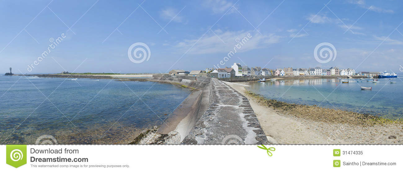 Ile De Sein In Brittany France Royalty Free Stock Photo.