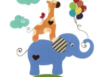 Circus animal art.