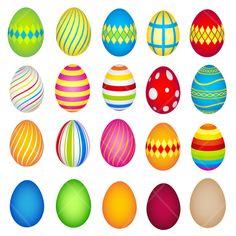 17 Free Easter Egg and Easter Basket Clip Art Designs.
