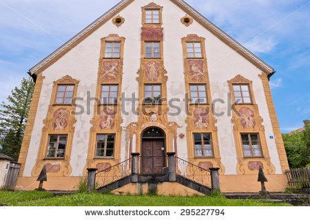 Germany Oberammergau House Stock Photos, Royalty.