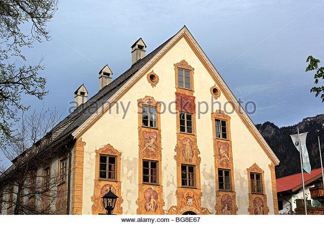 Lüftlmalerei Traditional House Painting Stockfotos und.