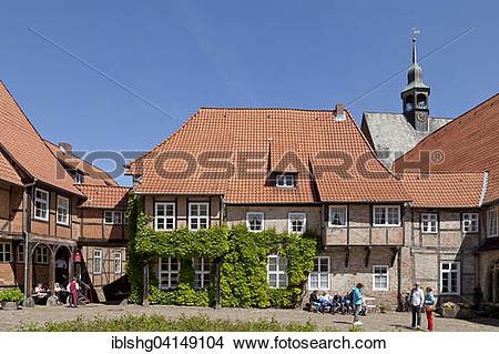 Stock Photo of Lune Abbey, Luneburg, Lower Saxony, Germany, Europe.