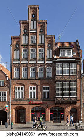 Picture of Gable, Am Sande square, Luneburg, Lower Saxony, Germany.
