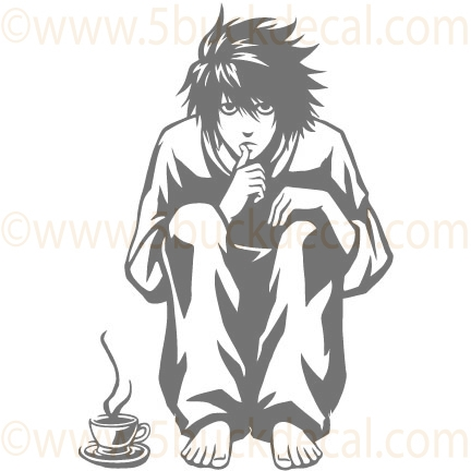 DEATH NOTE ANIME DECAL.