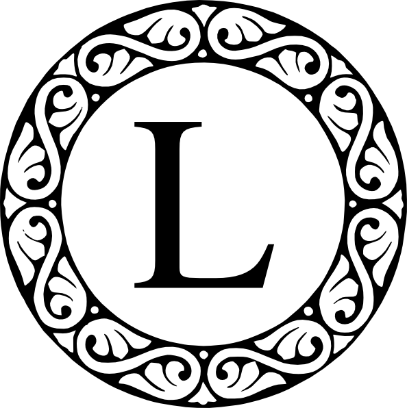 Circle Sroll Letter L Monogram Clip Art at Clker.com.