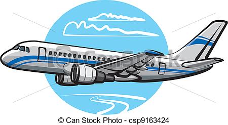 EPS Vector of passenger airplane csp9163424.