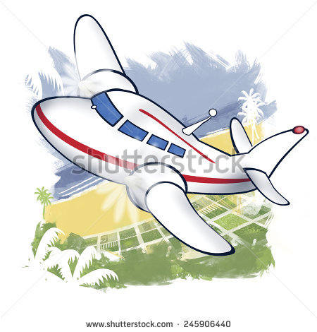 Passenger Aircraft Stock Illustration 245906440.