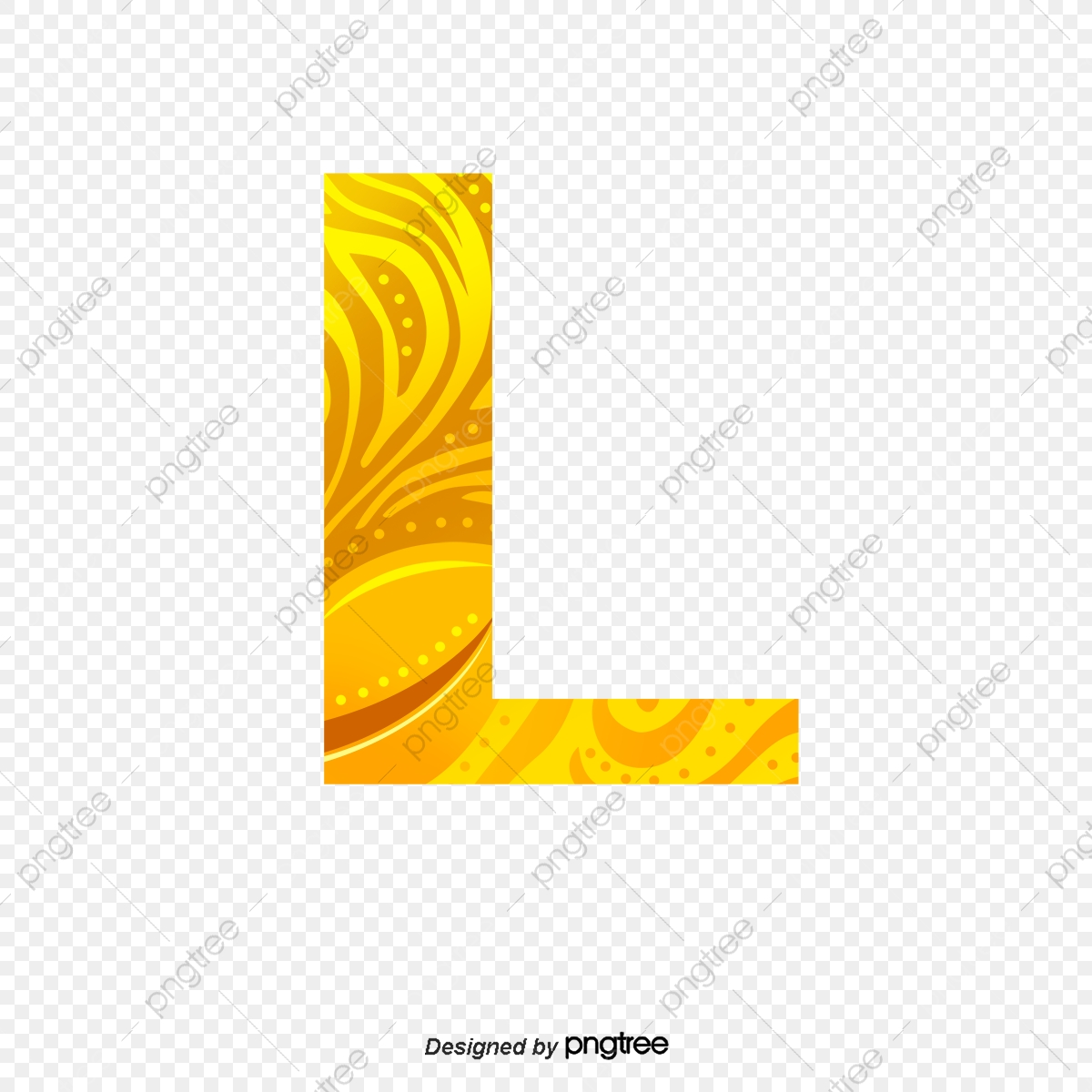 Golden Letters L, Golden, Golden Letters, Letter L PNG and Vector.