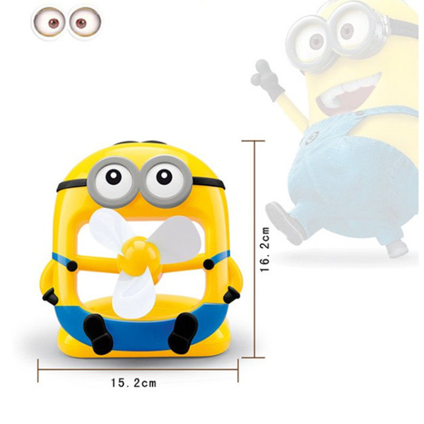 2016 Portable Minions Style Pvc Fans Mini Rechargeable Cartoon.
