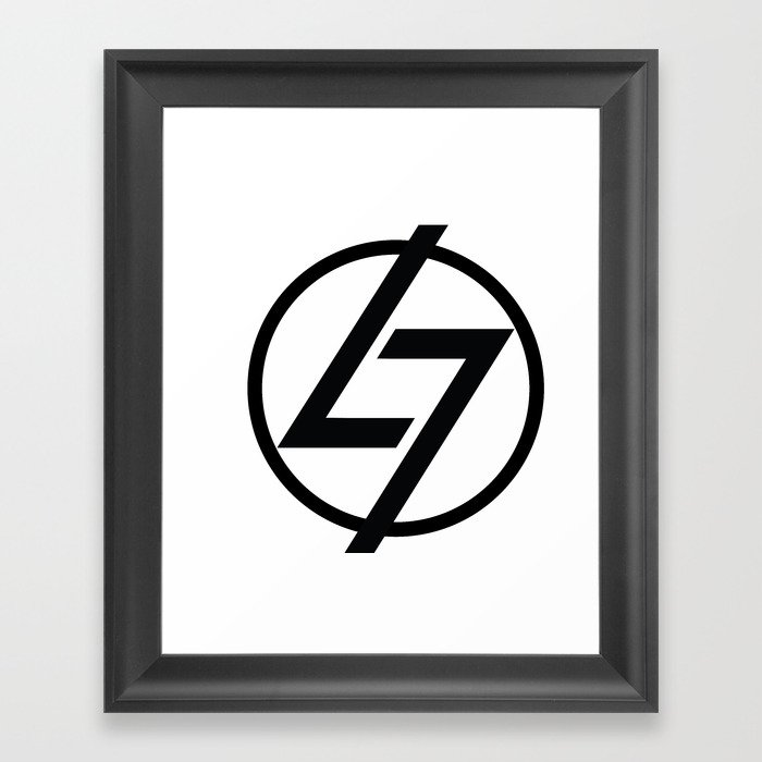L7 Logo Framed Art Print by thel7.