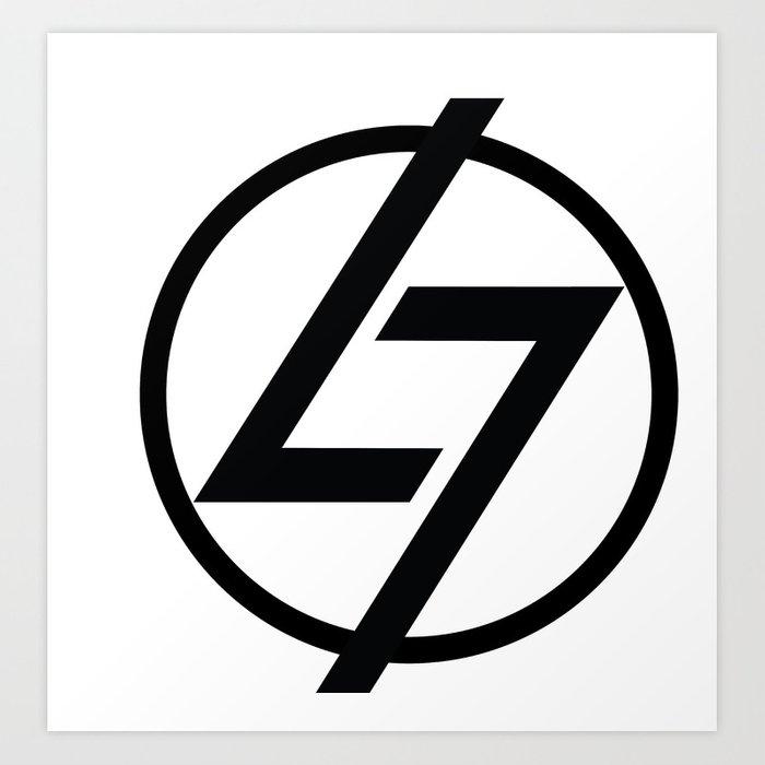 L7 Logo Art Print by thel7.