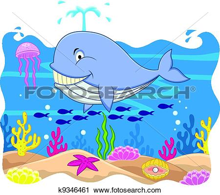 Stock Illustrations of whale k14146990.