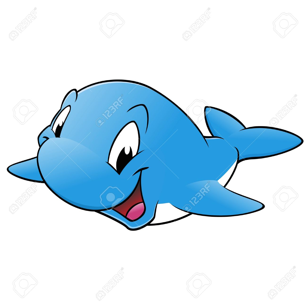 Happy Smiling Blue Whale Royalty Free Cliparts, Vectors, And Stock.