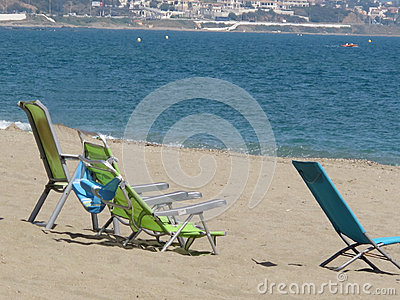 Beach At La Cala De Mijas Stock Photo.