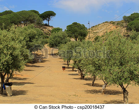 Stock Photos of countrypark at La Cala De Mijas.