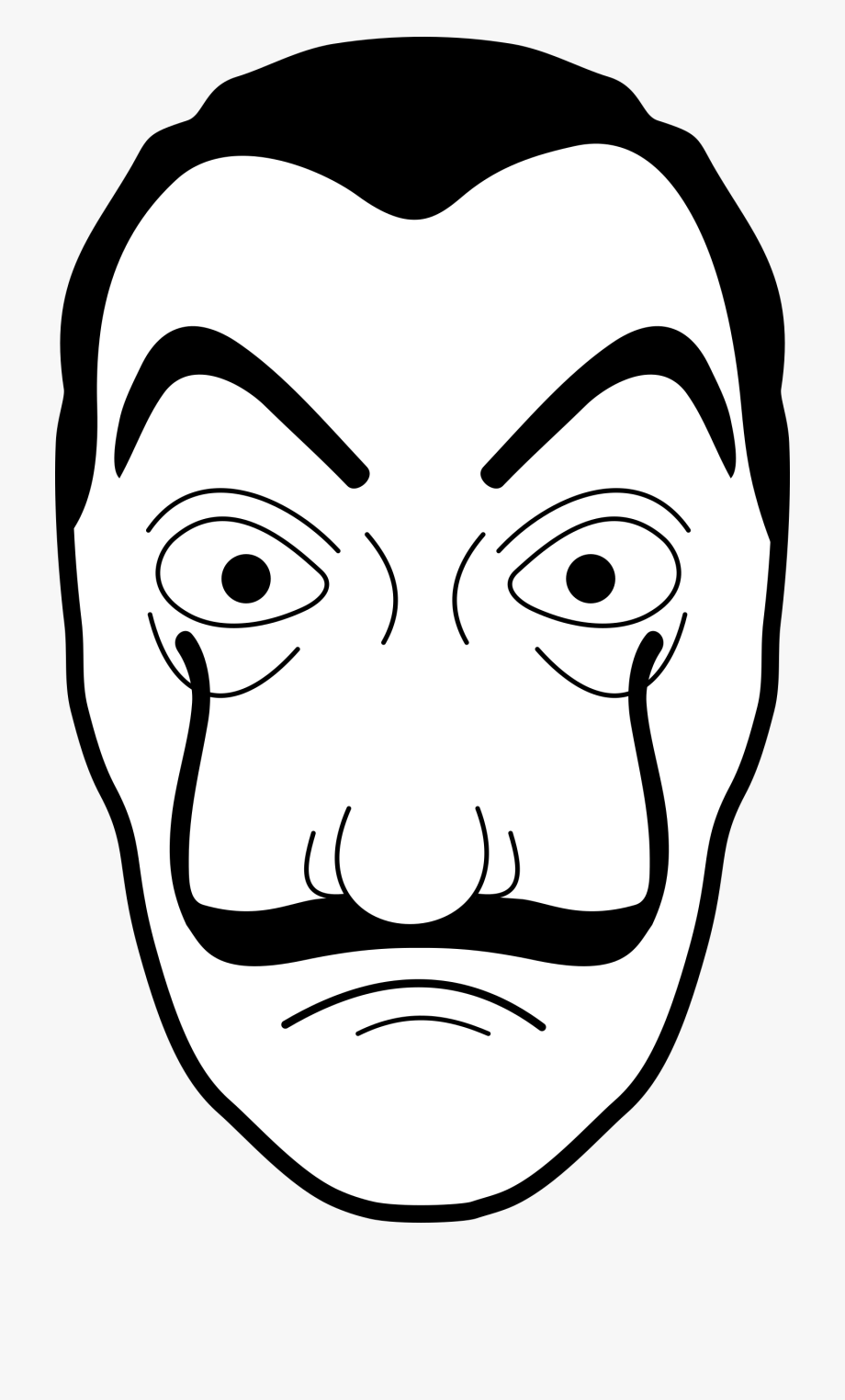 Mask Black And White Clipart.