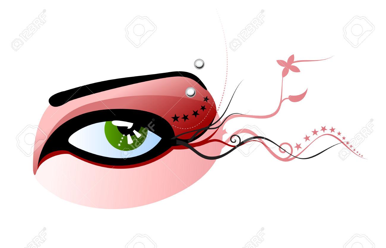 Ilustración Vectorial De Un área Verde Con Ojos Rojos De.