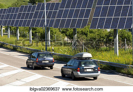 "Picture of ""Photovoltaic modules along a country road in the Swiss."