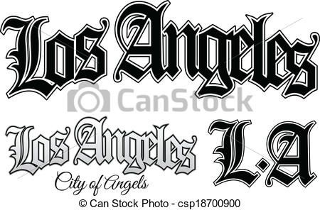 Vector Clipart of Los Angeles.