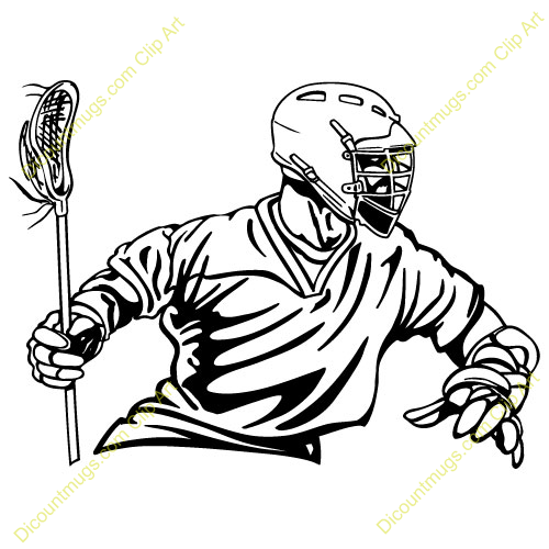 Lacrosse Silhouettes Clipart.