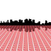 Stock Illustrations of La defense skyline Paris text k4005480.