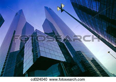 Stock Photography of Office buildings. La Defense. Paris. France.