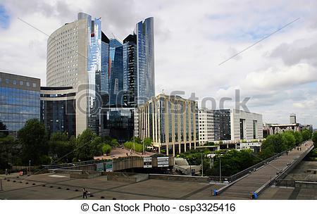 Stock Image of Business buildings at La Defense district, Paris.