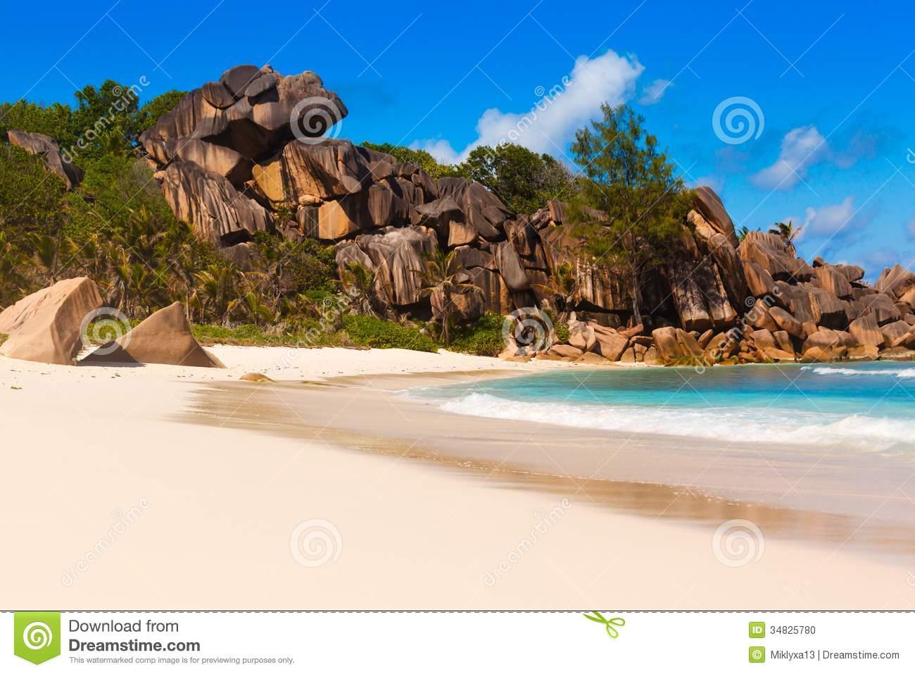 Seychelles, La Digue Island Stock Photo.