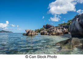 Picture of Tropical island beach, Source d'argent, La Digue.