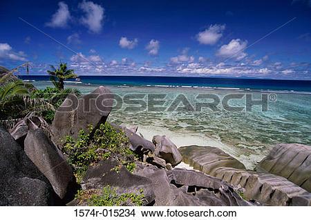 Stock Photo of Anse Pierrot La Digue Seychelles 1574r.