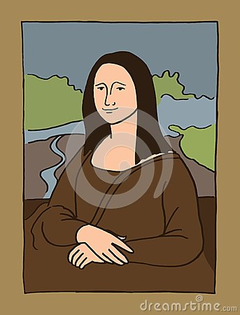 Gioconda Stock Illustrations.
