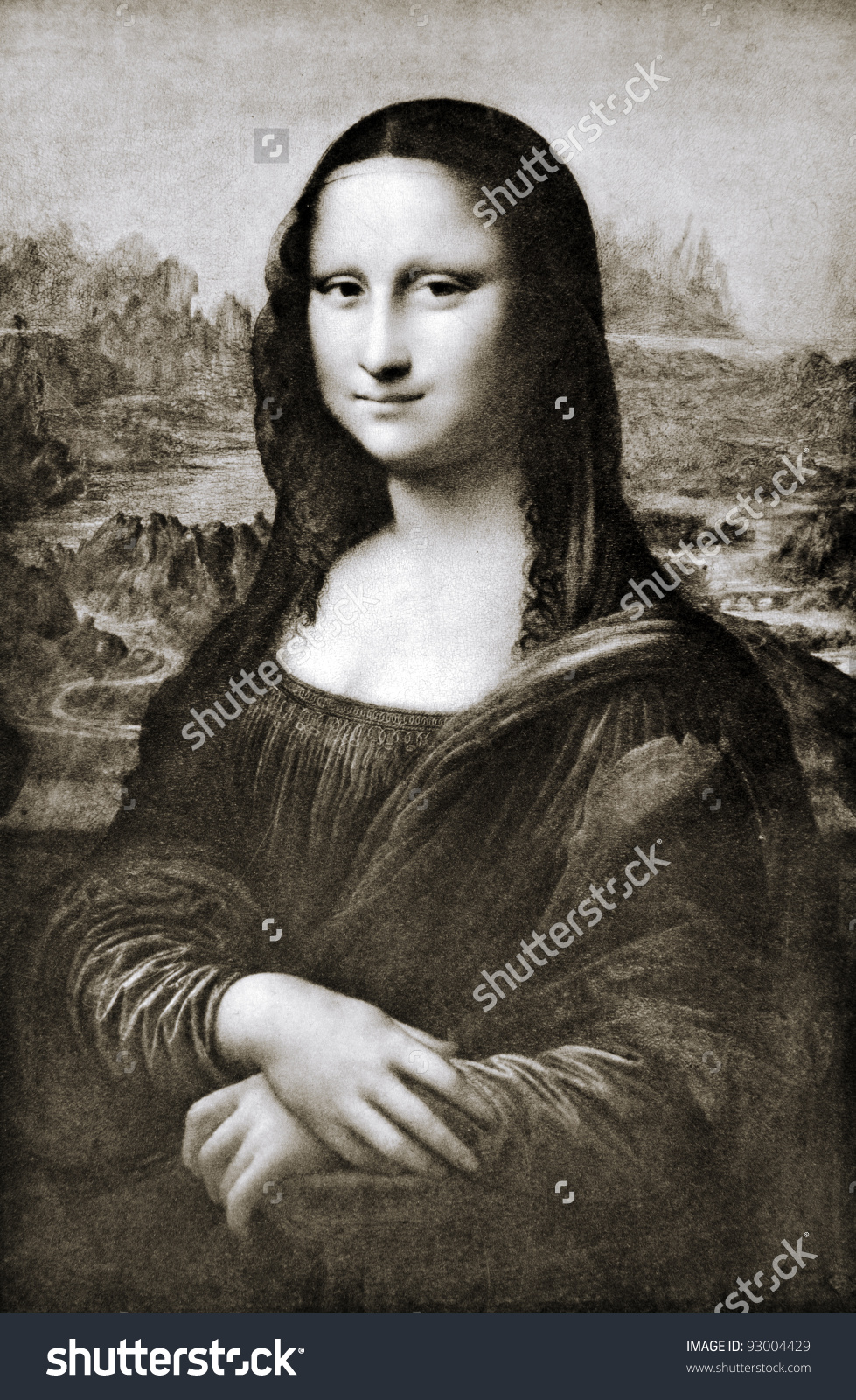 Leonardo Da Vinci 1452 1519 Mona Stock Photo 93004429.