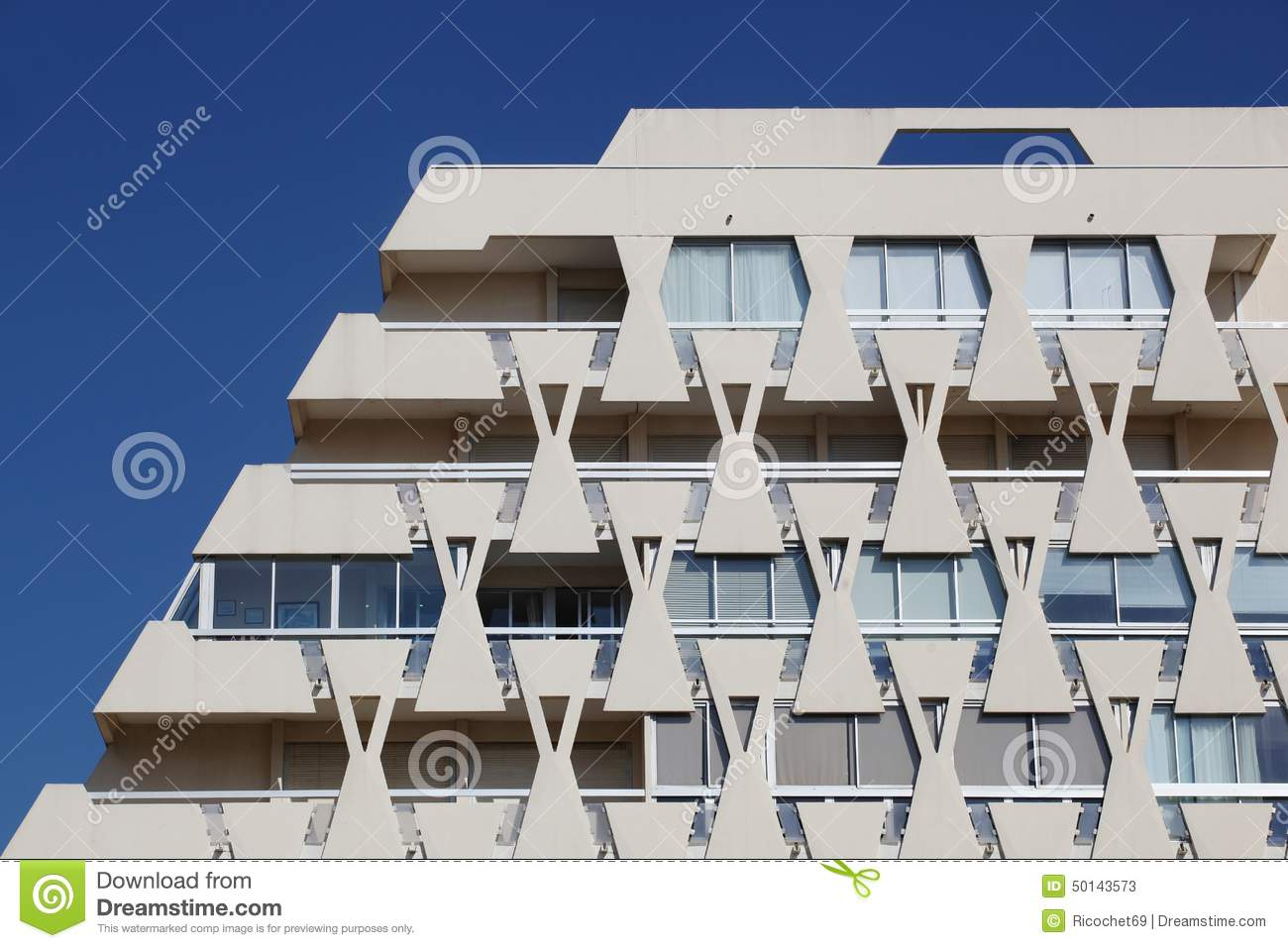 Pyramidal Building In La Grande Motte Editorial Stock Photo.