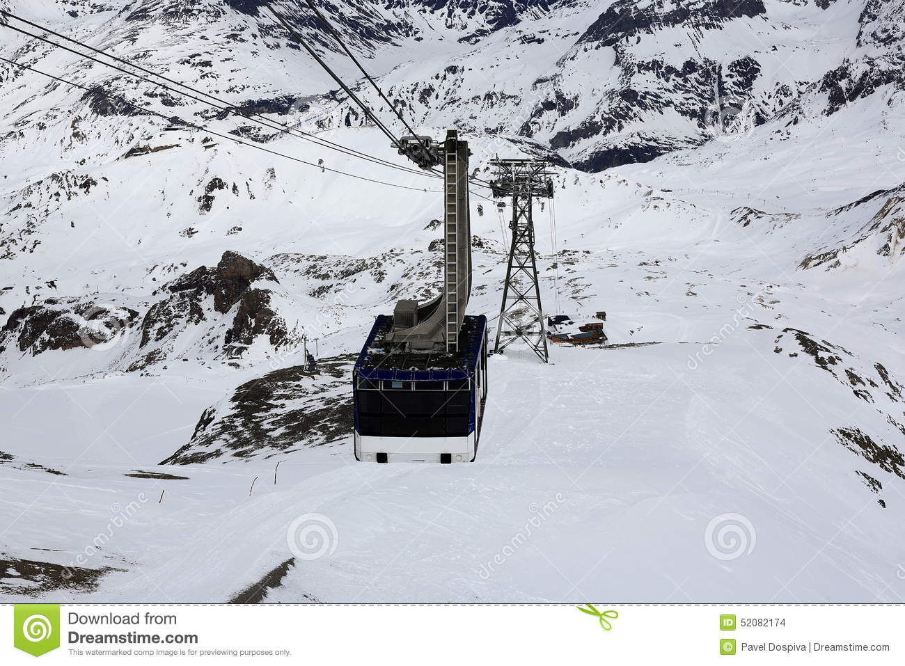 La Grande Motte, Winter Ski Resort Of Tignes.
