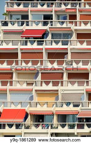 Stock Photograph of Acapulco Apartment Building La Grande.