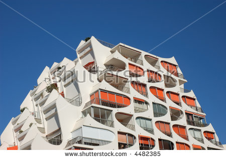 Modern Building In La Grande Motte, France Stock Photo 4482385.