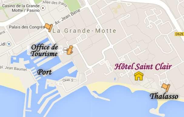 Contact Hôtel Saint Clair.