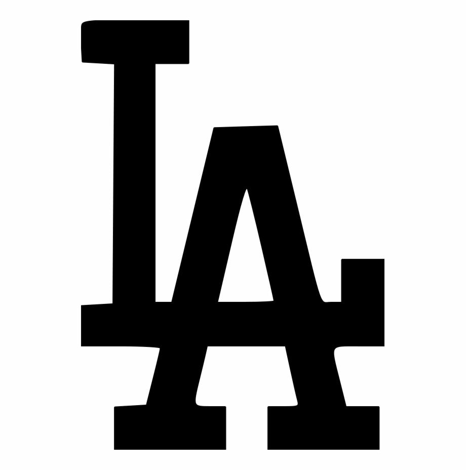La Dodgers Logo File Size Black Los Angeles.