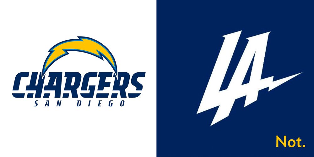 Brand New: LA Chargers not.