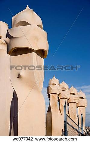 Stock Photo of Chimneys on the roof.