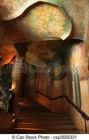 Stock Photography of Casa Mila or La Pedrera. Interior.