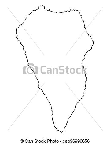 Clipart Vector of Map of La Palma csp36996656.