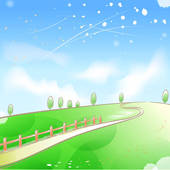 Clipart of peaceful, spring, serenity, peace, outdoors, breeze.