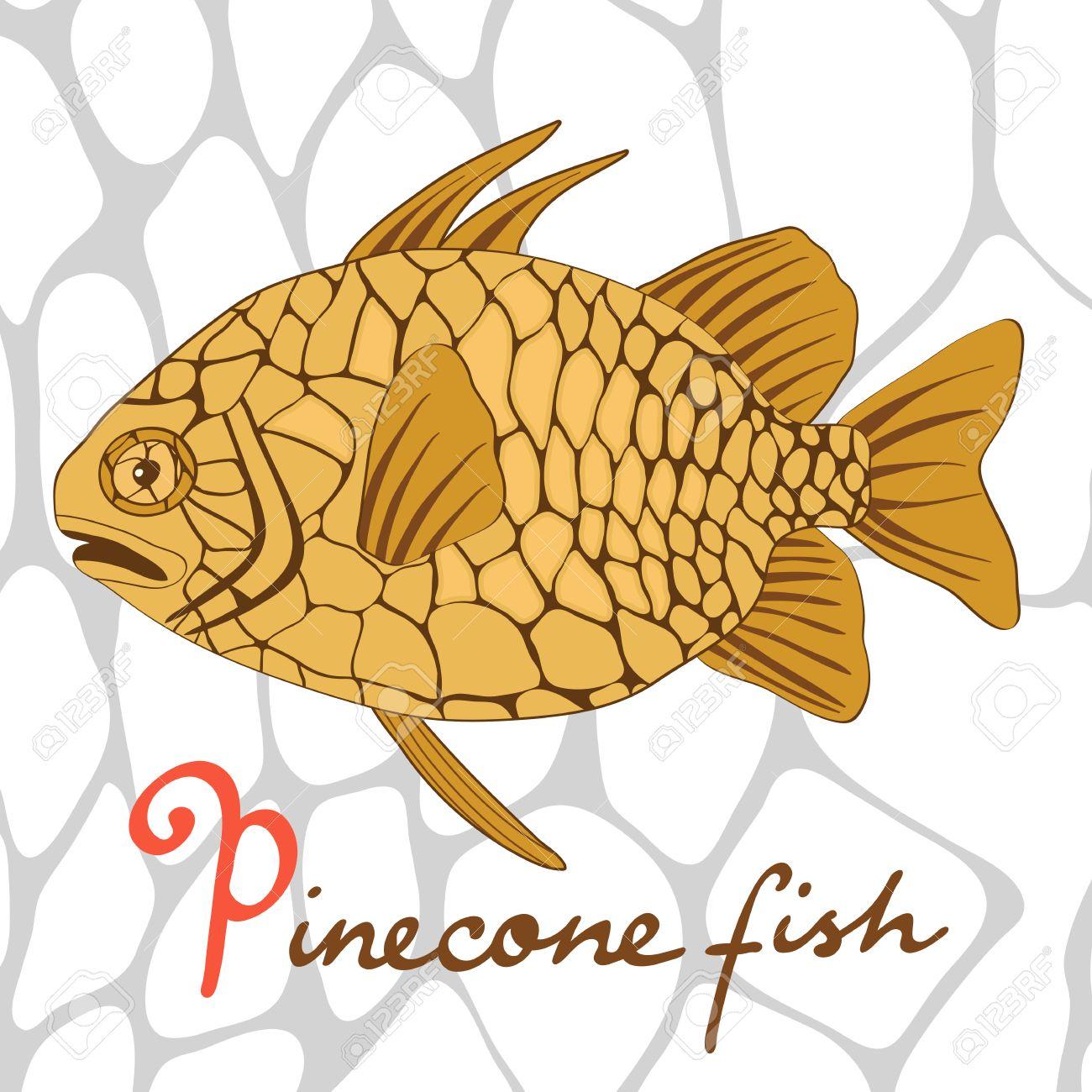 Un Colorato Illustrazione Di Pesci Esotici Pigna In Formato.
