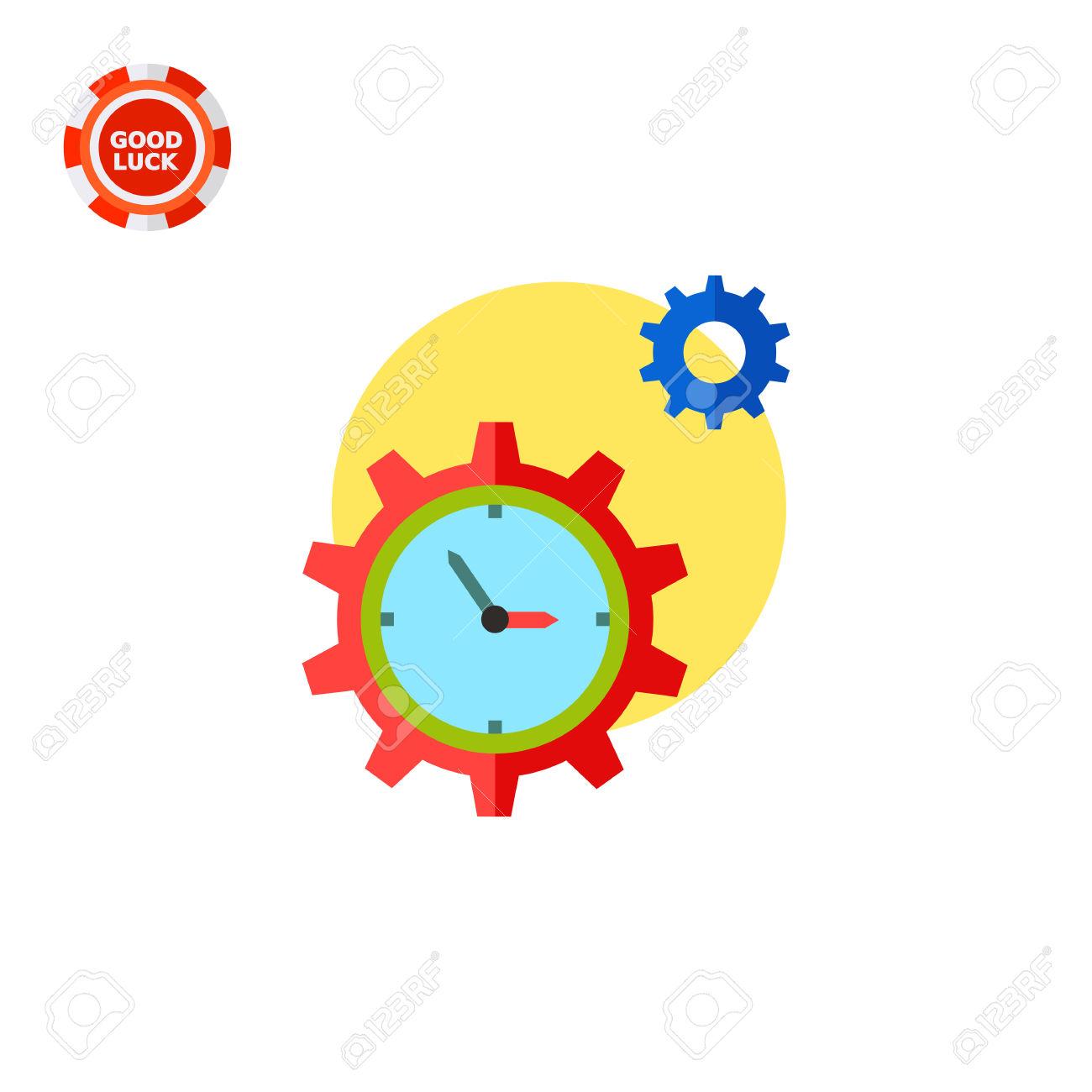 Reloj En Forma De Rueda Dentada Y Otra Marcha Con El Sol En El.