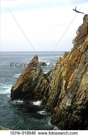 Stock Images of La Quebrada Acapulco Mexico 1574r.