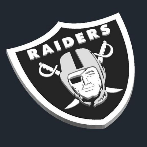 Download free 3D printing models Oakland Raiders.