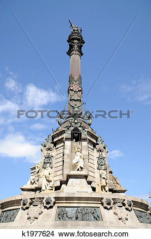 Stock Photo of Monument of Christopher Columbus at end of La.